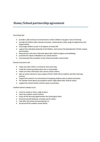 School Partnership Agreement