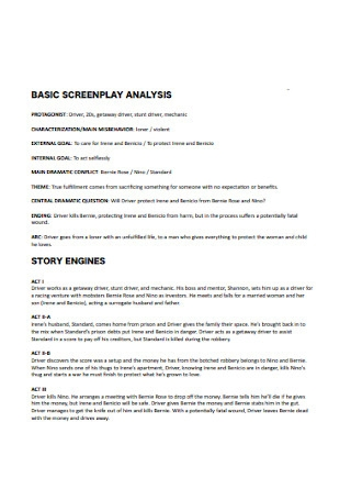 Screenplay Analysis