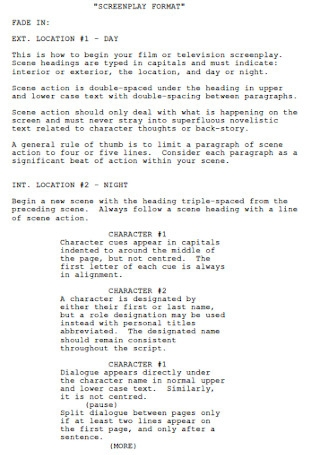Screenplay Format