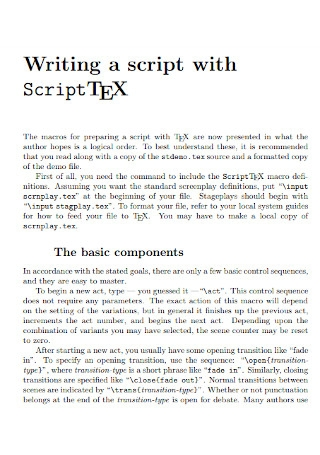 Screenplay and Script Template