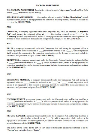 Selling Shareholder Escrow Agreement