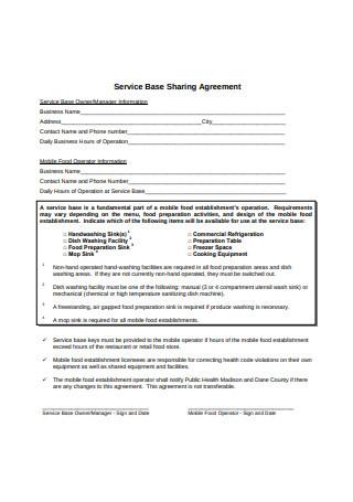 Service Base Sharing Agreement
