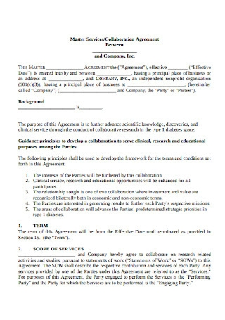 Services and Collaboration Agreement