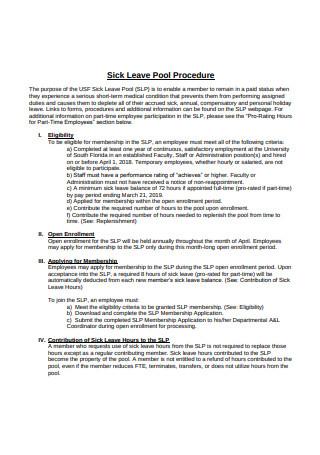 Sick Leave Pool Procedure
