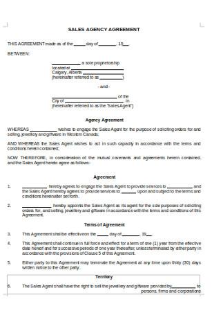 Simple Agecy Agreement