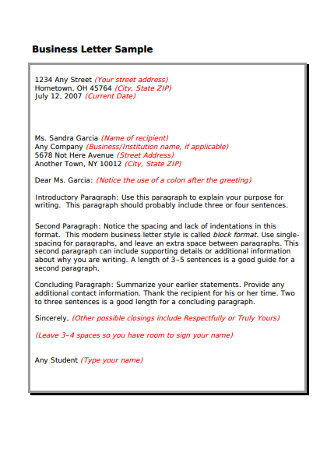 Simple Business Letter