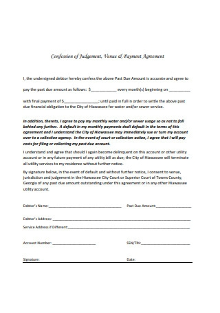 Simple Payment Agreement Format
