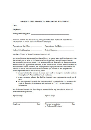 Simple Repayment Agreement Format