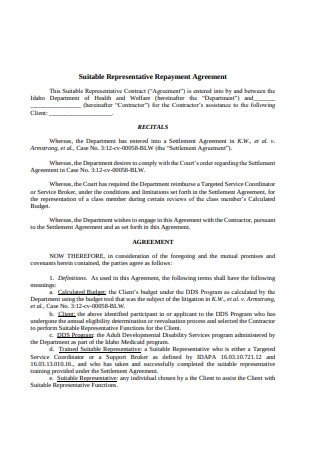 Simple Repayment Agreement