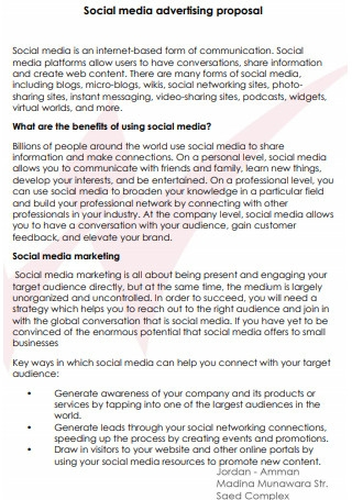 Social Media Advertising Proposal