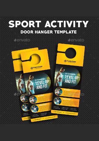 Sport Activity Door Hanger