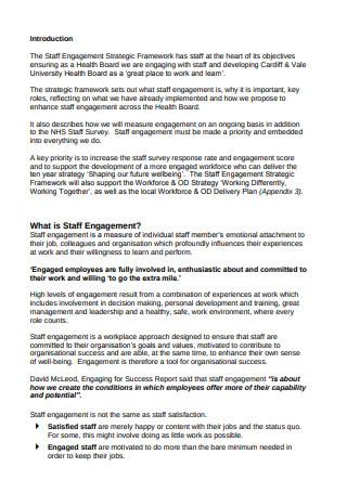Staff Engagement Strategic Framework