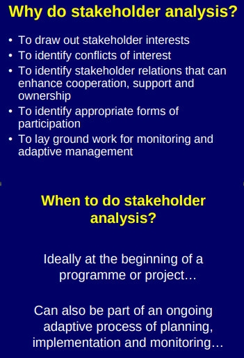 Stakeholder Analysis and Intrests