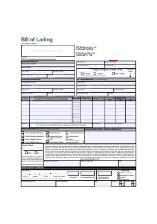 Standard Bill of Lading