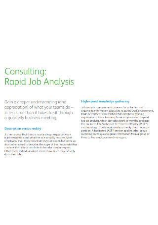 Standard Job Analysis