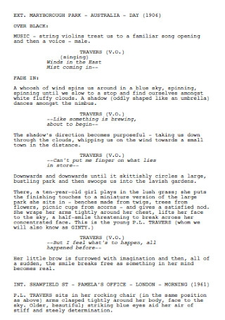 Standard Original Screenplay
