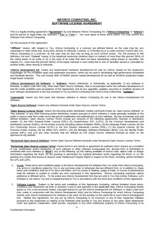 Standard Software License Agreement