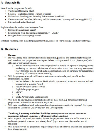 Standard Template for Business Proposal
