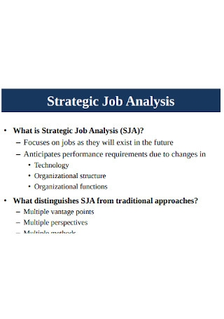 Strategic Job Analysis