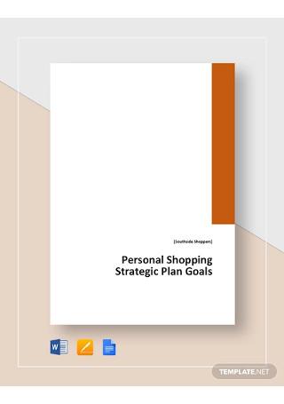 Strategic Plan Goals Template