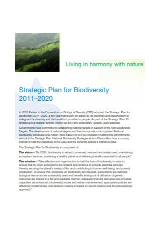 Strategic Plan for Biodiversity