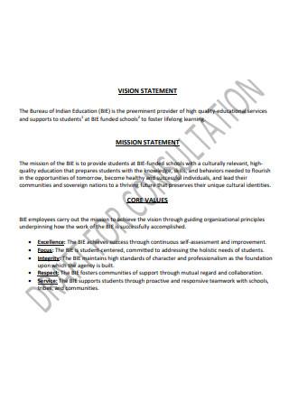 Strategic Plan for Consultation Statement