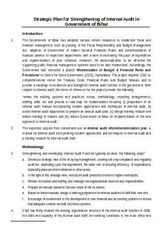 Strategic Plan for Internal Audit