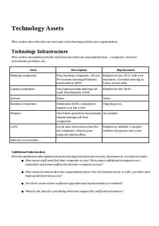 Strategic Technology Plan Template