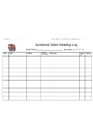 Sustained Silent Reading Log