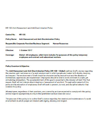 Temporary Employee Anti discrimination Policy