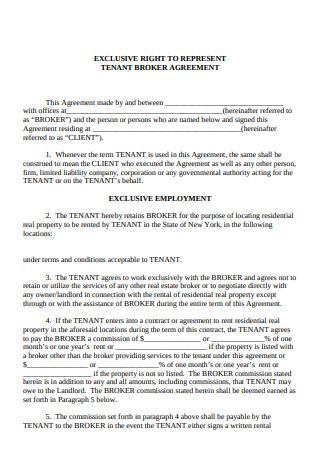 Tenant Broker Agreement