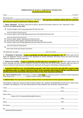 Termination of Agency Agreement