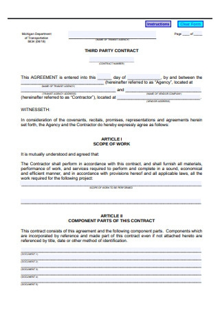 Third Party Contract