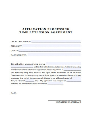 Time Extension Agreement