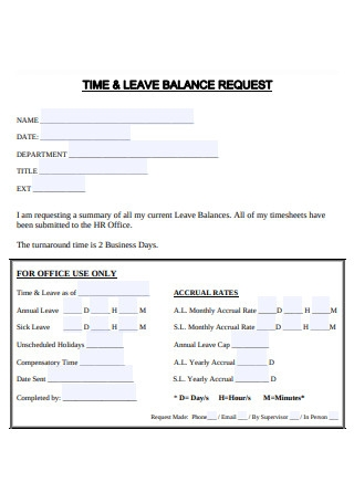 Time and Leave Balance Request
