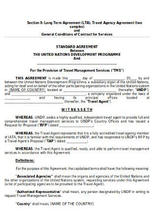 Travel Agency Agreement