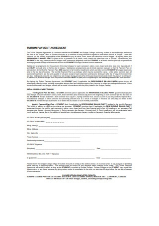 Tuition Payment Agreement