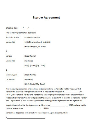 University Legal Escrow Agreement