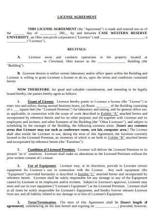 University License Agreement