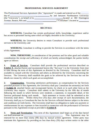 University Service Agreement