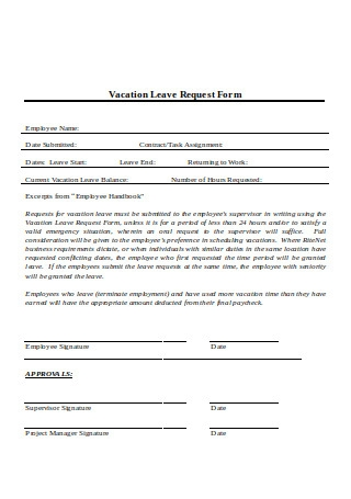 Vacation Leave Request Form1