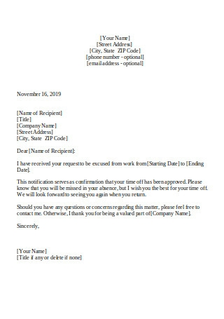 Vacation Leave of Absence Approval Letter1