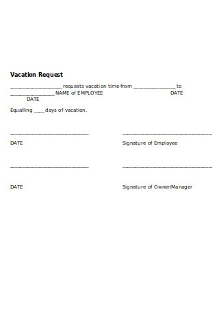 Vacation Policy Vacation Request Form