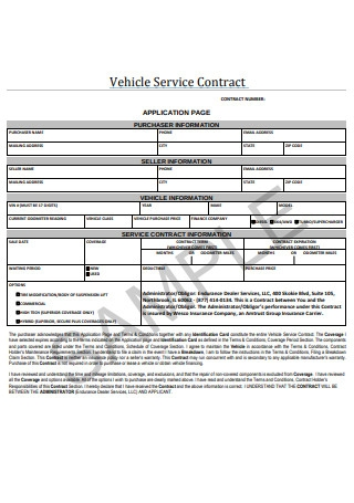 Vehicle Service Contract1