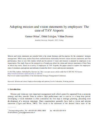 Vision Statement Adoption