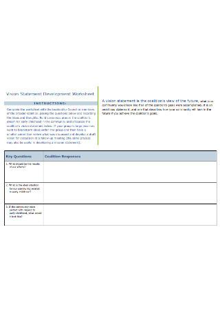 Vision Statement Development Worksheet