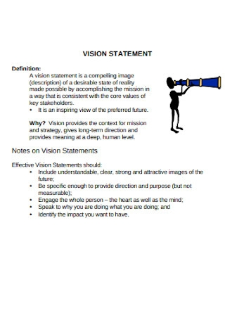 Vision Statement Template