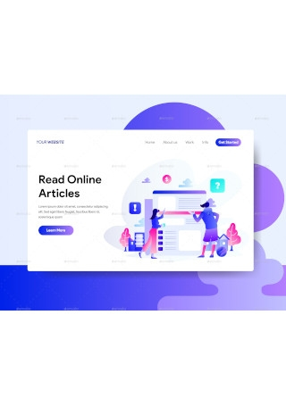 Website Pages Illustration for Landing Pages