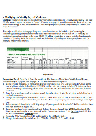 Weekly Payrool Worksheet