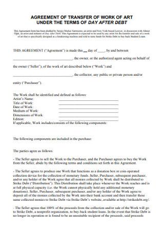 Work Transfer Agreement